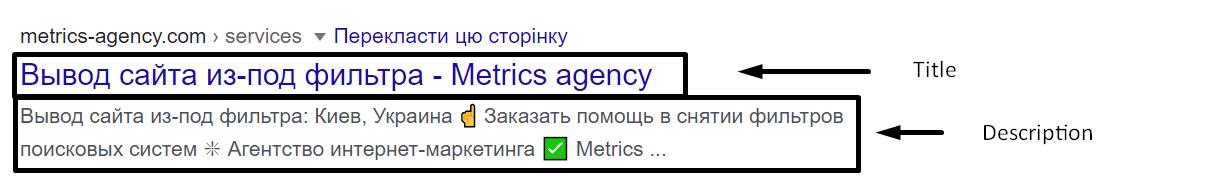 Пример сниппета в поисковой выдаче